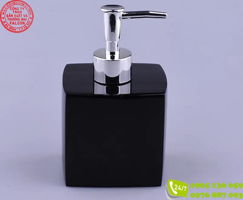 Bình đựng dầu gội sữa tắm khách sạn nhựa mica 400ml